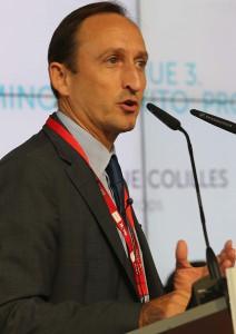 Enrique Colilles, gerente de Trops, durante su intervención en el II Encuentro Territorial del Agroalimentario Malagueño organizado por el Diario Sur