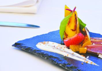 Foto Receta Parrillada de Mango Trops con tataki de pato
