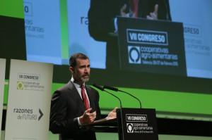 El Rey, Felipe VI, clausurando el VII Congreso de Cooperativas Agroalimentarias