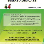 Cartel Jornada Técnica sobre Aguacate, Coín, Málaga
