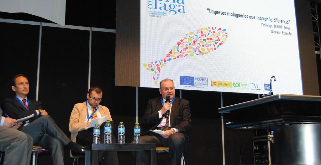 Francisco Requena, de Prolongo, durante su intervención en la mesa redonda.