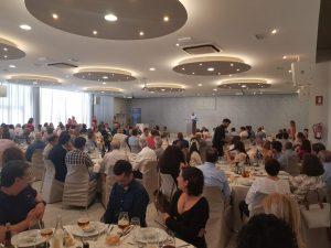 Salón de actos de TROPS durante la visita del Presidente de la Junta de Andalucía