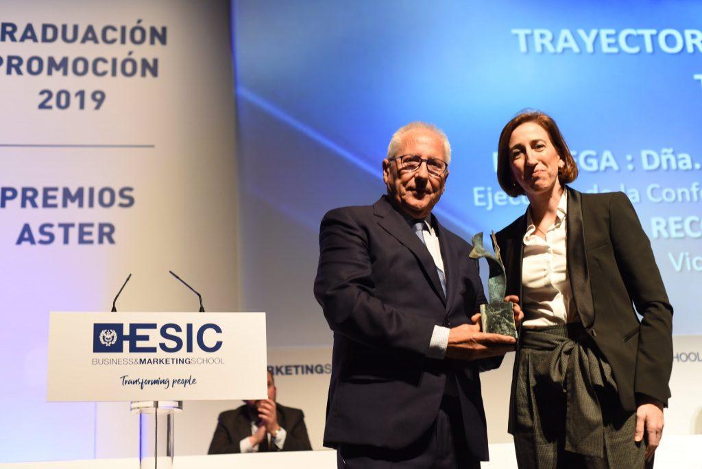 José Linares, Vicepresidente de TROPS, y Natalia Sánchez, Vicepresidenta de la Confederación de Empresarios de Málaga